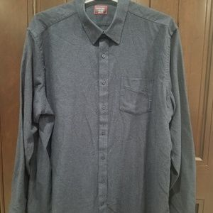 UNTUCKIT Long Sleeve Flannel Button Front 3XL Tall